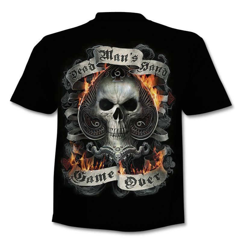 2020 New Fake Jacket Print T-Shirt Skull 3d T-Shirt Summer Trendy Short Sleeve T-Shirt Top Men/Female Short Sleeve Top