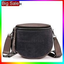 Sac à bandoulière pour femmes 2020 Messemger sacs sac à bandoulière en cuir synthétique polyuréthane mode célèbre marque dame demi cercle selle