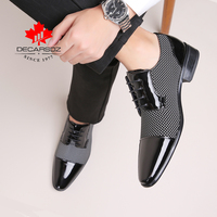 Men Dress Shoes Men Spring & Autumn New Brand Fashion Wedding Men Shoes Black White Matching Classic Design Male Formal Shoes