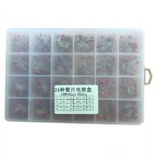 960 шт./кор. Керамика комплект конденсаторов пакет 2PF-0.1UF пакет с электронными компонентами конденсаторный систематизированный Набор 24 видов каждое для выведения токсинов, 40 шт