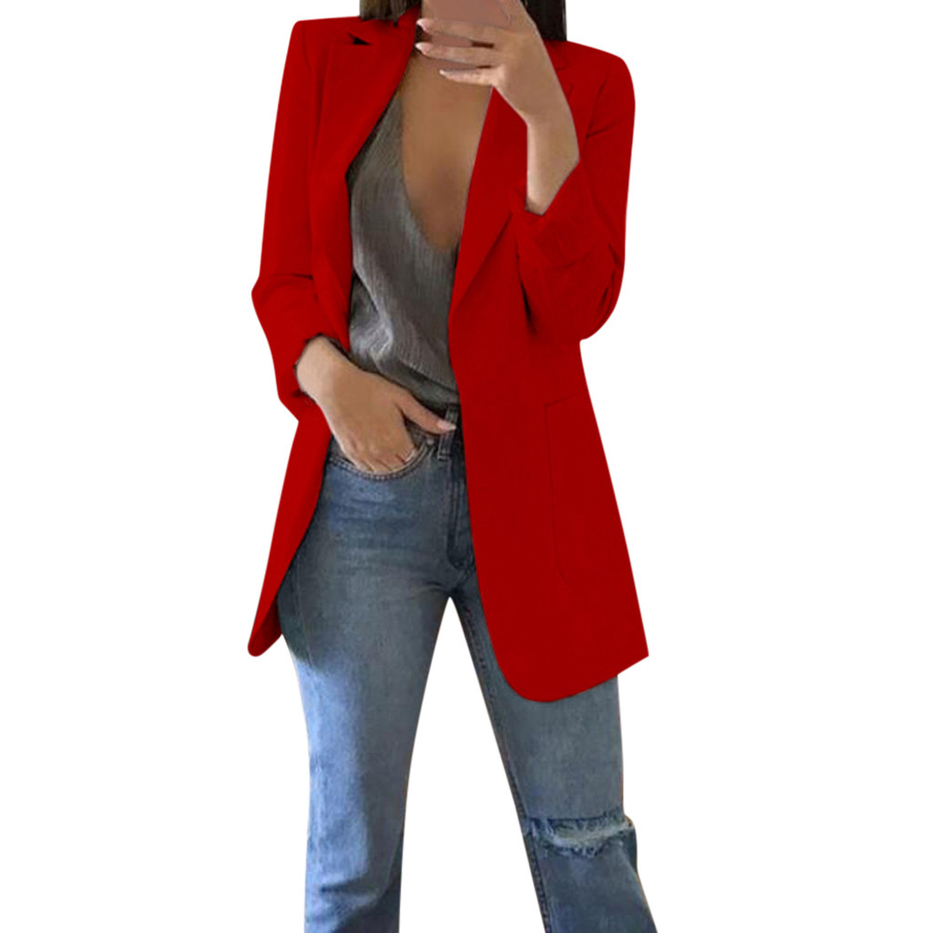 Blazer Feminino Blazer Women Blazer Mujer Marynarka Damska Blazer Femme Blaser Feminino Autumn Winter Long Sleeve Office Coat Z4