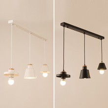 Modern nordic minimalist pendant light creative lron LED hanging light for living room bedroom kitchen dinner room study e27