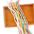 Разноцветные бусины-цепочки, ракушки для украшений «сделай сам», натуральные ракушки, ремесла, браслеты, аксессуары «сделай сам», украшение...