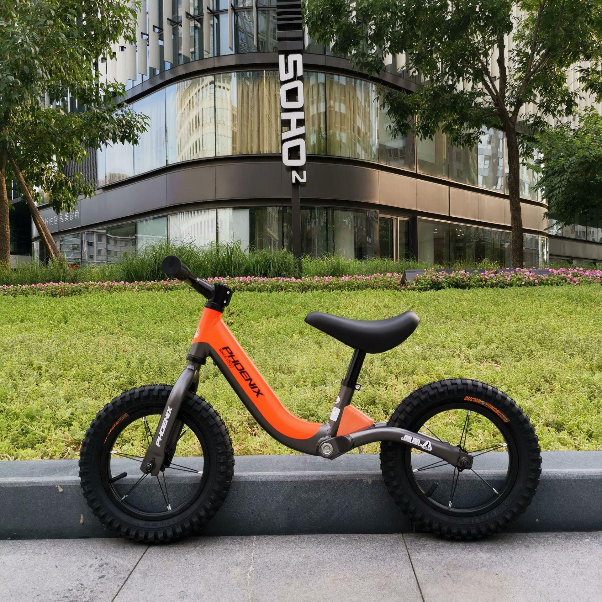 Phoenix 12 Inch Aluminum Balance Bike Toddler No Pedals For 2 – 6 Year Old – Orange, Blue 5