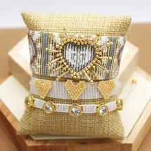 ZHONGVI Pulseras Mujer Moda 2020 MIYUKI bracciali per donna 3D cuore coppia bracciale Femme gioielli in cristallo Boho Chic fatto a mano