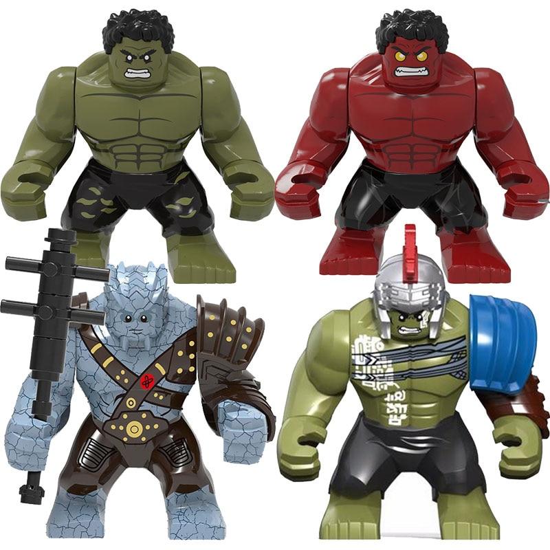 0281 8,5 см, Халк, большой размер, Тор, Рагнарок, 3 модели, строительные блоки, развивающие фигурки, игрушки для детей