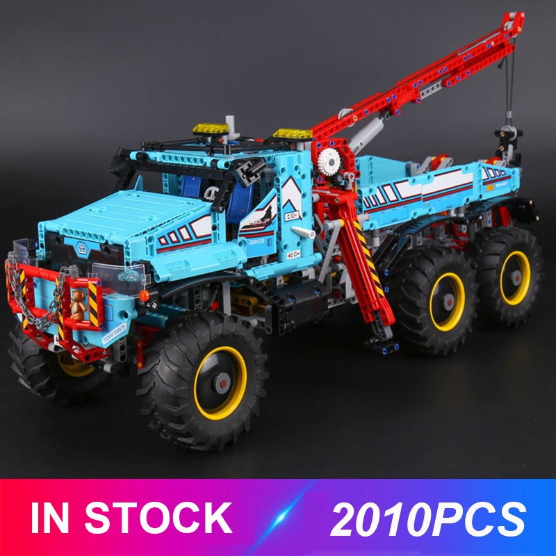 New 20056 LepinBlocks 6x6 All Terrain Tow Truck Compatible Technic 42070 Building Bricks Educational Toys Birthdays Gifts
