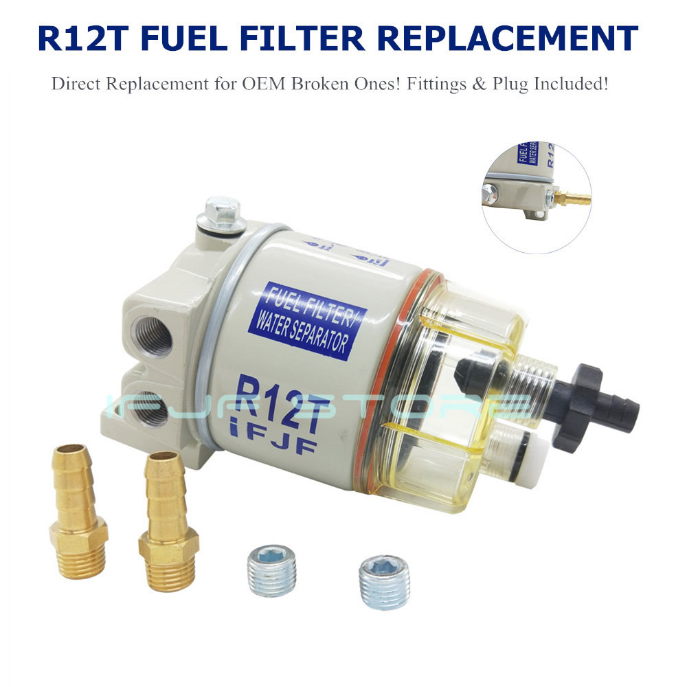 Image 3 - iFJF R12T Fuel/ Water Separator Filter diesel engine for Racor 140R 120AT S3240 NPT ZG1/4 19 Automotive Parts Complete Combo-in Fuel Filters from Automobiles & Motorcycles