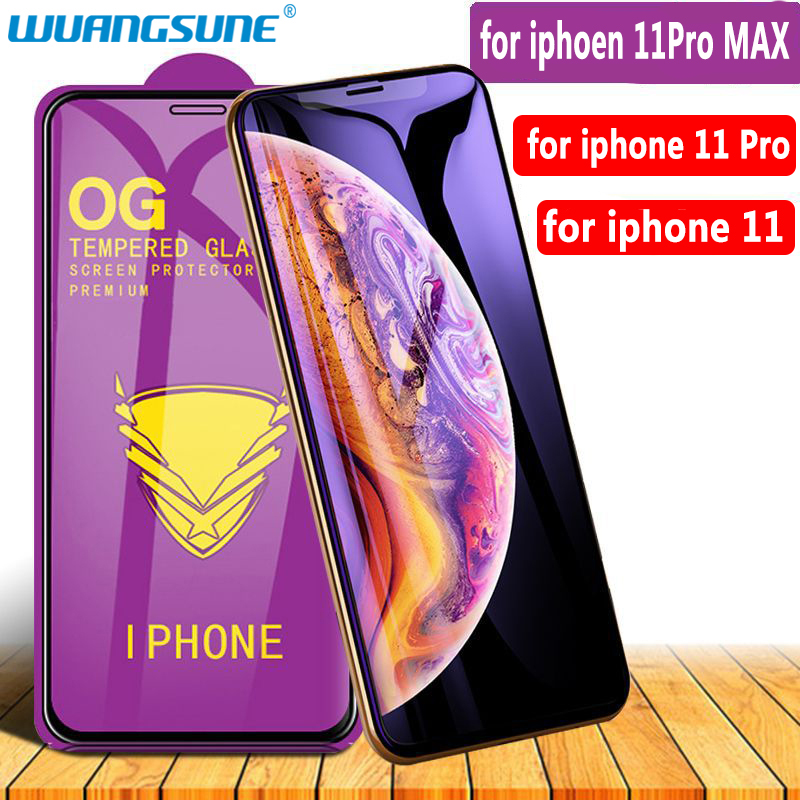 Golden Armor Protective Glass For IPhone 11 11Pro MAX Full Screen Coverag Tempered Glass On Iphone X XS XR Screen Protector Film