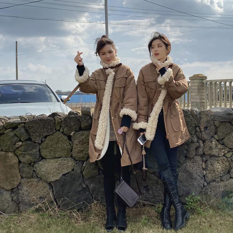 MISHOW Atumn Winter Fashion Thick Cotton Coat Women Causal Lambswool High Waist Zipper Coat Tops  MX19D8336