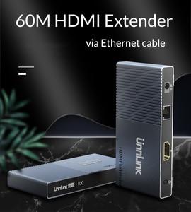 Image 2 - Unnlink 60 מטרים HDMI Extender FHD 1080P @ 60Hz CAT5E/6 רשת כבל LAN RJ45 Ethernet הארכת עבור טלוויזיה מקרן צג תיבה
