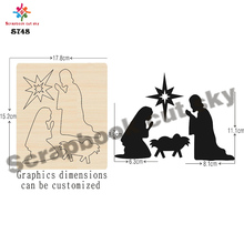 Angel, family  Scrapbook cut sky & steel wooden dies Compatible with most machines