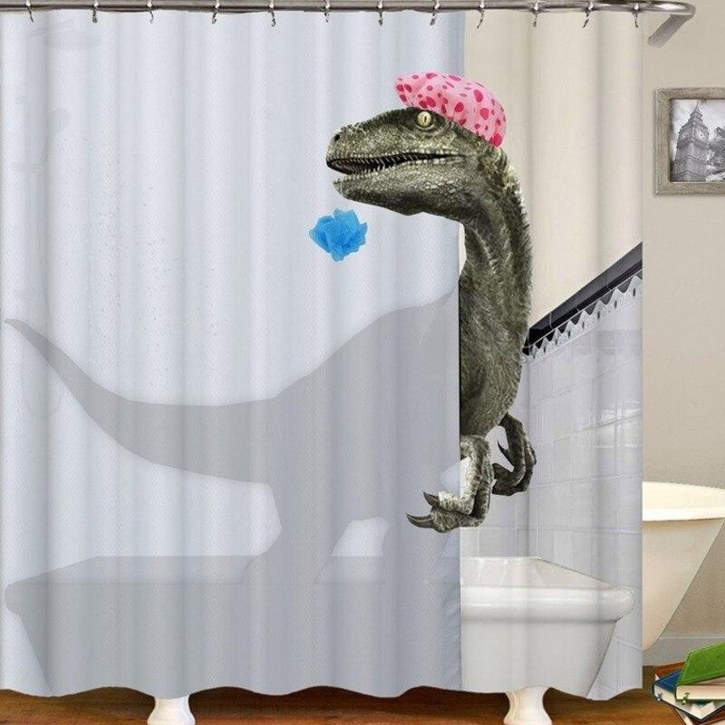 >Lovely Bathing Dinosaur Print <font><b>Shower</b></font> <font><b>Curtain</b></font> Waterproof Bathroom <font><b>Curtain</b></font> Bathroom <font><b>Shower</b></font> Accessories Decor Bath <font><b>Curtain</b></font>