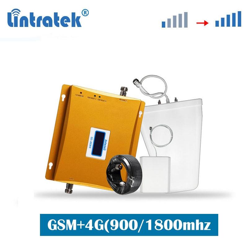 Lintratek Russia GSM 900 LTE 4G 1800MHz Mobile Phone Signal Booster Repeater Amplifier Set Beeline/MegaFon/MTS/Tele2/Yota S8-2