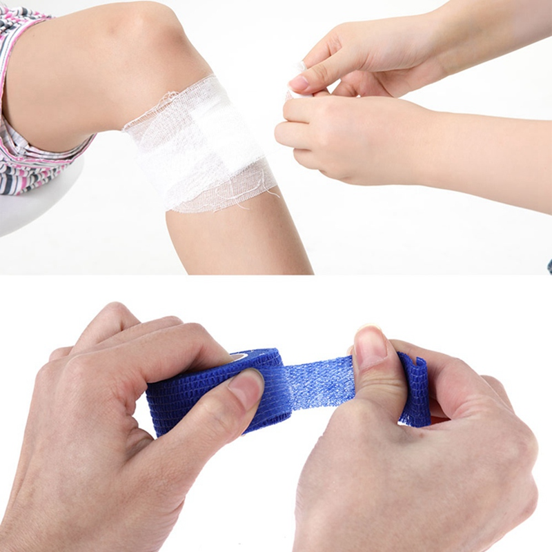 Security Protection  Certification Waterproof Self Adhesive Elastic Bandage 2.5*500cm First Aid Kit Nonwoven  Bandage