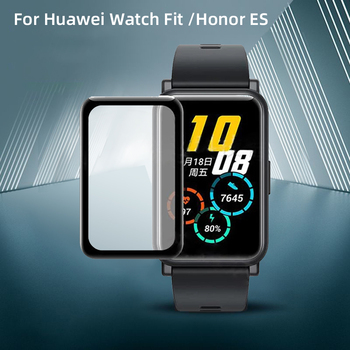 Cover For Huawei Watch Fit / Honor Watch ES Screen Protector Case 3D Curved Full Smart Watch Soft Protective Film tpu soft silicone soft full screen glass protector case shell frame for huawei honor es watch fitting plating protective cover