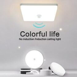 Lumière neutre LED plafonniers rond carré économiseur d'énergie 36W 48W chambre LED capteur plafonnier pour salon salle de bain
