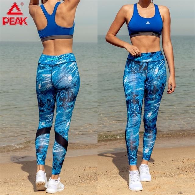 Peak γυναικείο αθλητικό ψηλόμεσο κολάν για το γυμναστήριο και τη γιόγκα