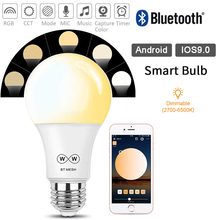 High quality Bluetooth Mesh Smart Light Bulb Dimmable Bluetooth bulb speaker  LED Light Bulb Smartphone/Remote Control D20