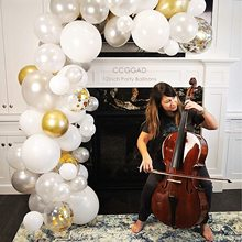 METABLE 100PCS 12 inch White Balloons Gold Confetti BalloonsParty /Birthdays/Wedding/Festivals/Christmas/Baby Shower Pack