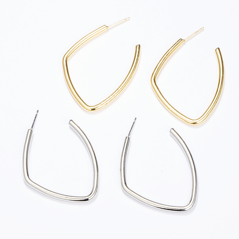2020 New Design Korea Jewelry Round Circle Hoop Earrings For Women Girls Gold silver color Earrings Brincos Wholesale Gift