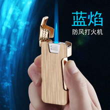 Flip Side Press Ignition Butane Gas Lighter Inflatable Torch Turbo fire starter Personality Windproof Cigar Metal
