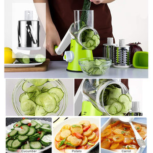 Image 5 - 3 In1マニュアル多機能野菜カッター野菜フルーツポテトキャベツマンドリン野菜スライサーキッチンガジェット