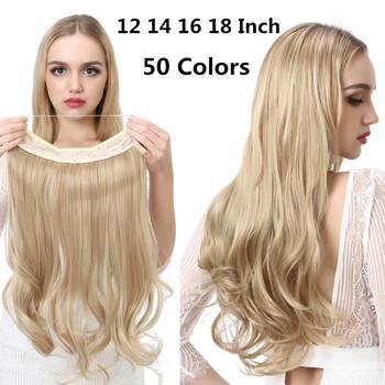 SARLA naturalne syntetyczne doczepiane włosy bez klipsa w sztucznym sztucznym Ombre blond brązowy czarny różowy czerwony faliste sztuczne włosy kawałek tanie i dobre opinie Naturalne fali Wysokiej Temperatury Włókna 10 cali z 5 klipsami CN (pochodzenie) Pure color about 28cm(11 inch) Wire black brown ash golden beige highlight or ombre