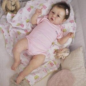 22 дюйма силиконовая кукла саскиа, Реалистичная, милая, Реборн, набор аксессуаров для костюма, лучший помощник для девочек (ткань случайный)