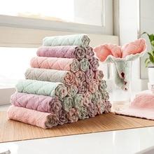 Двухсторонняя прочная водопоглощающая Ткань для очистки не проливается без масла, Влажная и сухая двухцелевая домашняя ткань для посуды 5 упакована в