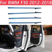 الأزرق البرتقال 2 اللون سيارة النيون الداخلية الباب المحيطة ضوء الزخرفية الإضاءة ضبط سيارة العالمي ل BMW 3 سلسلة F30 2012 2018