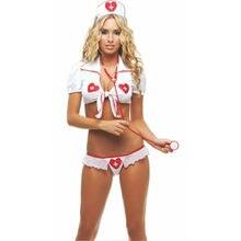 Uniforme da infermiera da donna Set di Lingerie Sexy corsetto Bustier ad alta elasticità Top camicetta biancheria intima erotica sesso Micro Mini gonna Sissy Cosplay