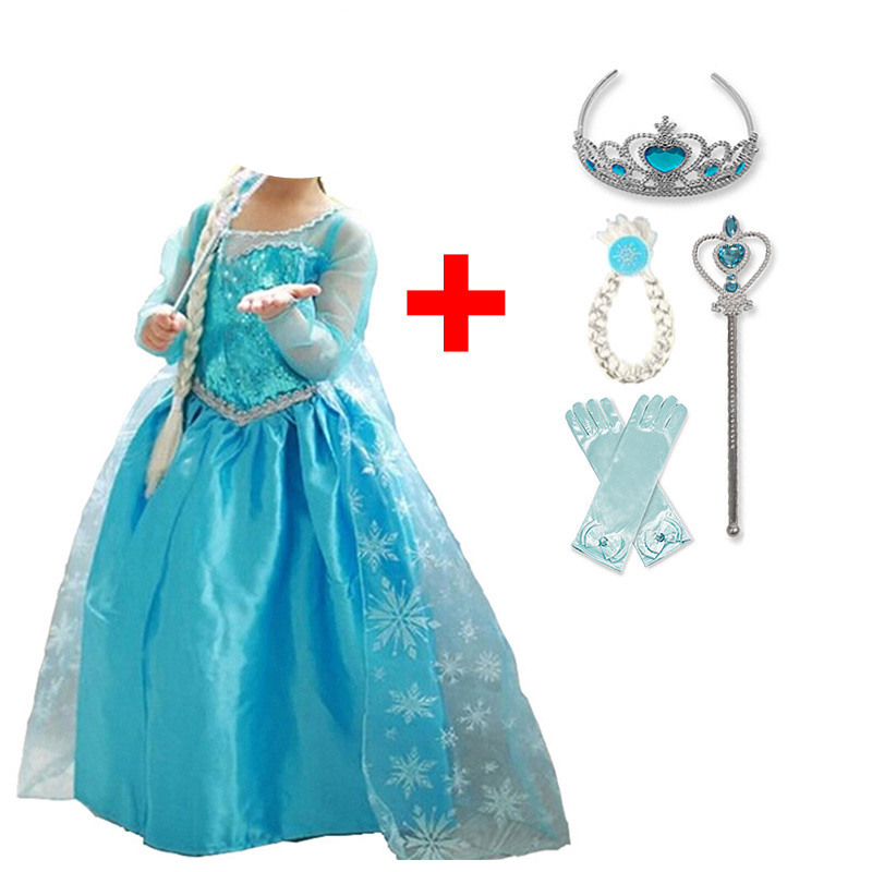 Baby Girl Princess Dress for Girls Childen Clothing Fancy Cosplay Halloween Costume Carnival Party Children Birthday Dress Dresses  - AliExpress