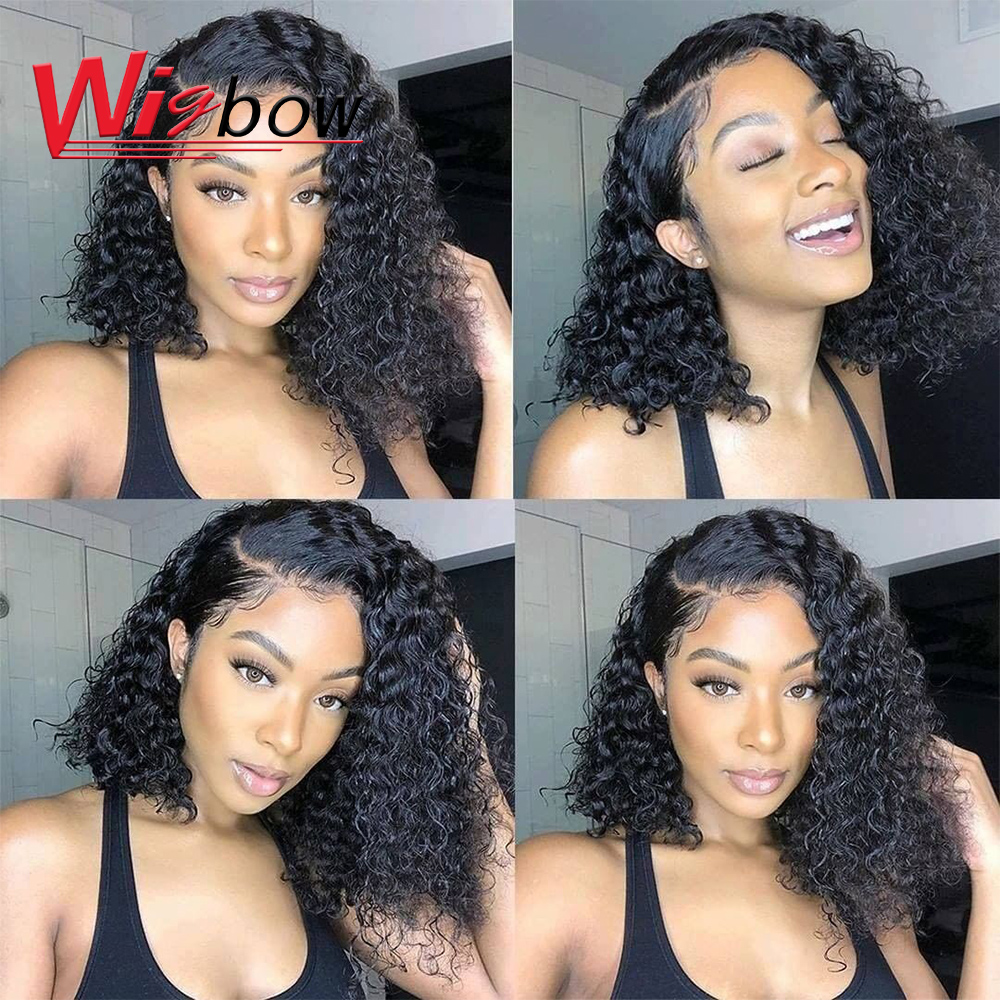 Cheap Kinky Curly Human Hair Wig 180 Density Curly Human Hair Wigs Pre Plucked With 100% Remy Brazilian Human Hair Free Shipping