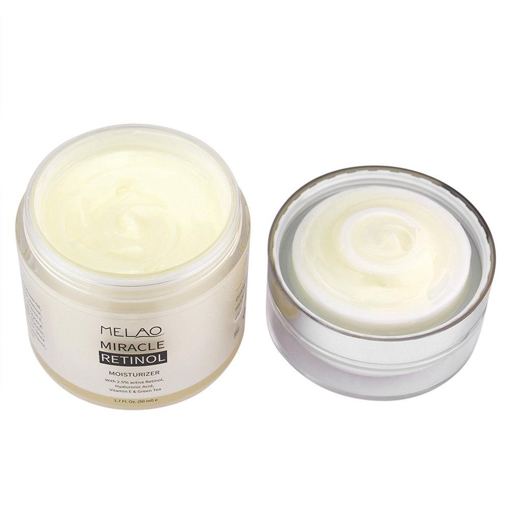 Melao 2.5% Retinol Moisturizer Cream - Face and Eye area w/Vitamin E Green Tea Anti Aging Reduces Wrinkles