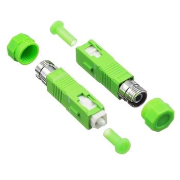 цена на FC Female to SC APC Male Fiber Optic Adapter Singlemode FC-SC Hybrid Optical Adaptor
