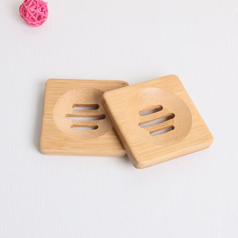 Natural Bamboo Soap Dish Simple Bamboo Soap Holder Rack Plate Tray Bathroom Soap Holder Case 3 Styles LX8400