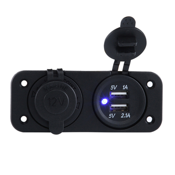 Dustproof  Waterproof  3.1A  5V Dual double USB Car Cigarette Lighter Socket dustproof waterproof 3 1a 5v dual double usb car cigarette lighter socket