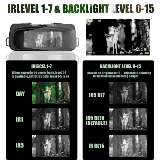 WILDGAMEPLUS WG500B 1080P HD Night Vision Binoculars 3.6-10.8 Digital Zoom Infrared Hunting Night Vision Binocular IR Telescope 2