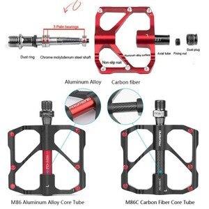 Image 5 - PROMEND Mtb דוושת שחרור מהיר כביש אופניים דוושת אנטי להחליק Ultralight אופני הרי דוושות פחמן סיבי 3 מסבים Pedale vtt