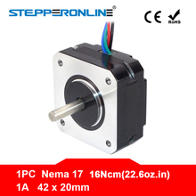 Nema Motor Extruder 17hs08-1004s-Motor 3d-Printer 20mm 4-Lead 1A for CNC 16ncm Short-Body
