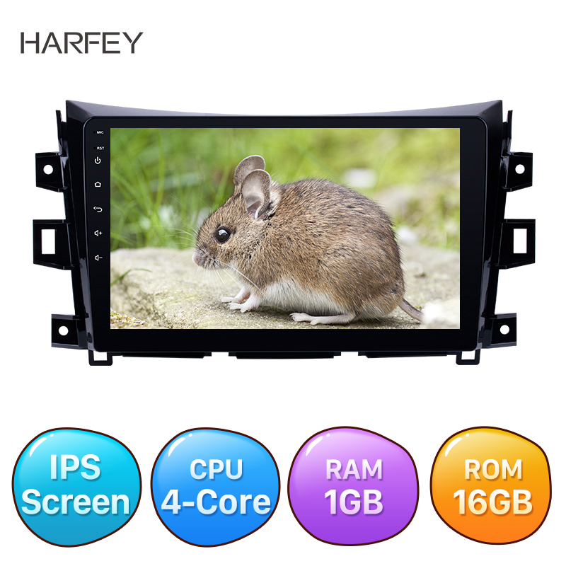 Harfey Android 8.1 Auto Radio GPS Stereo for 2011-2016 <font><b>Nissan</b></font> <font><b>NAVARA</b></font> Frontier <font><b>NP300</b></font> 10.1'' AUX Car Multimedia Player AHD image