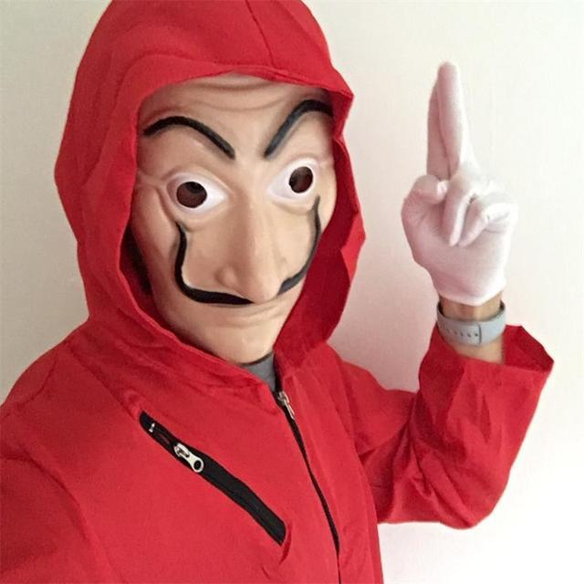 Kid Salvador Dali Movie The House of Paper La Casa De Papel Cosplay Party Halloween Mask Money Heist Costume & Face Mask 3