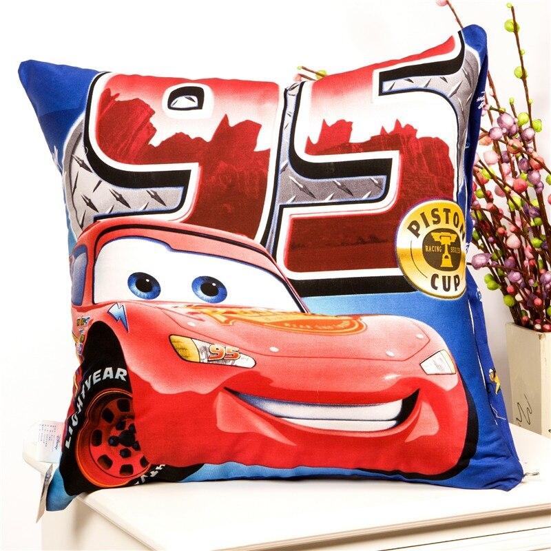 Housse de coussin pour bébés   Dessin animé Disney Mc Queen 95, Winnie Minnie Mouse, housse décorative/oreiller de sieste, cadeau pour bébés enfants 48x48 cm