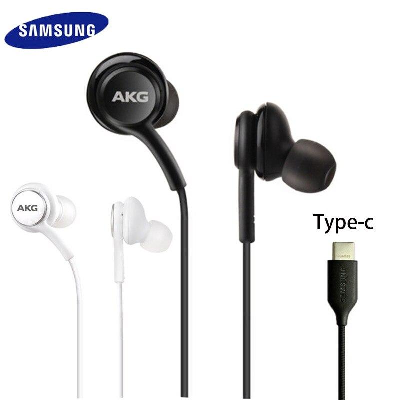 Наушники-вкладыши Samsung AKG IG955 Type-c с микрофоном, проводная гарнитура для смартфонов Galaxy Samsung S20 Note10 Huawei Xiaomi