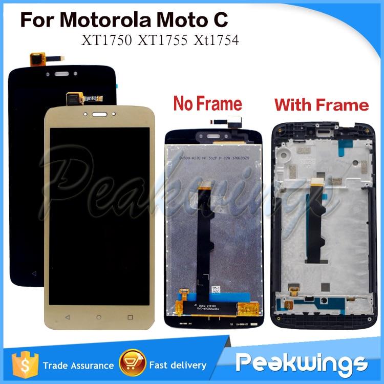 "5.0"" LCD Screen For Motorola Moto C XT1750 XT1755 Xt1754 LCD Display+Digitizer Panel Screen Assembly For Moto C display"