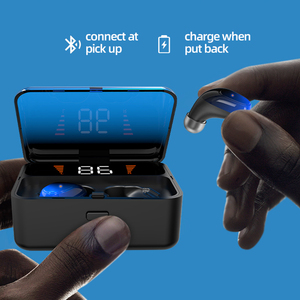 Image 3 - TOPK F13/ES01 TWS 5.0 Bluetooth kulaklık V5.0 taşınabilir Stereo kablosuz dokunmatik kulaklık spor bas kulaklık LED güç ekran