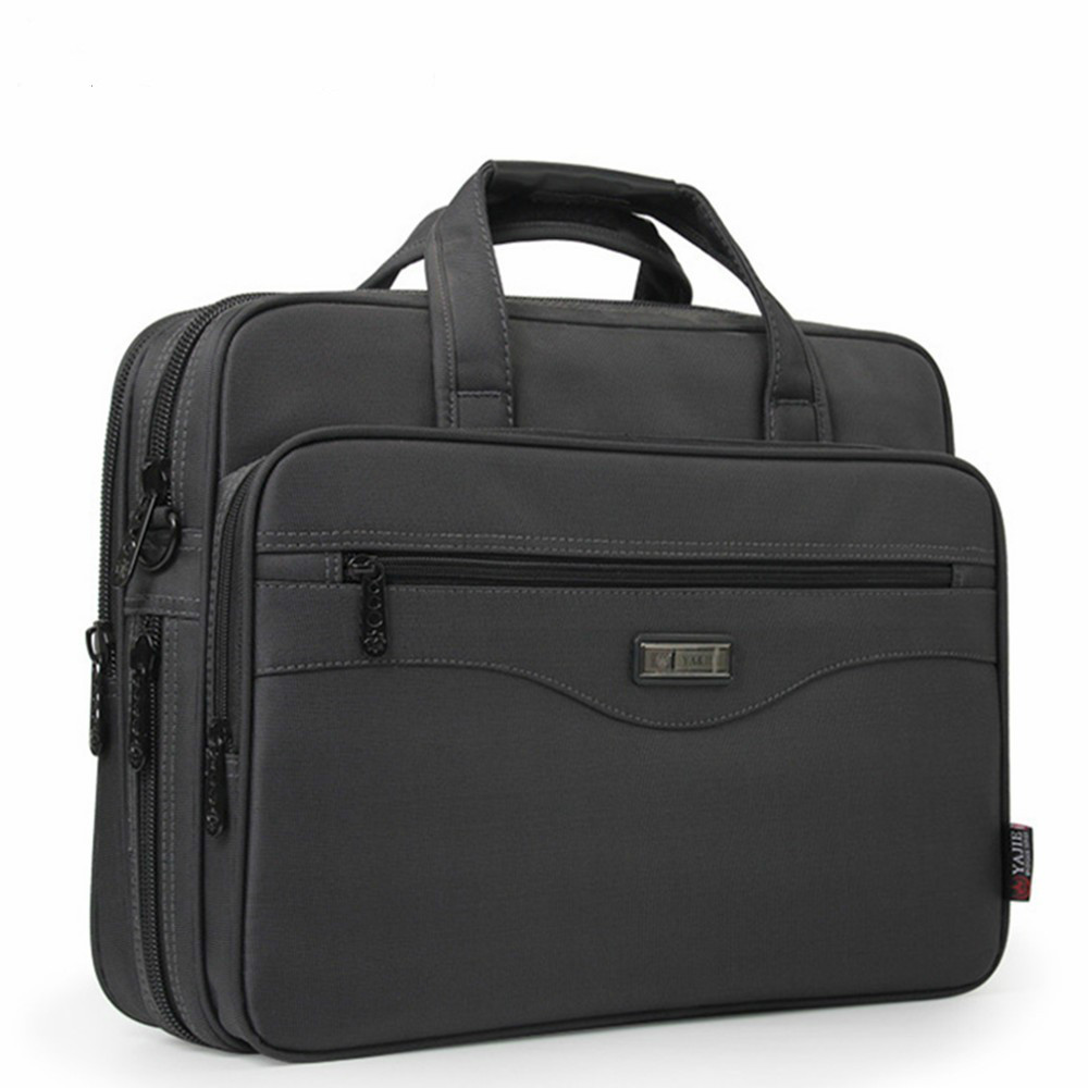 JCPAL Men Briefcase Laptop Bags Good Nylon Cloth Multifunction Waterproof 15.6