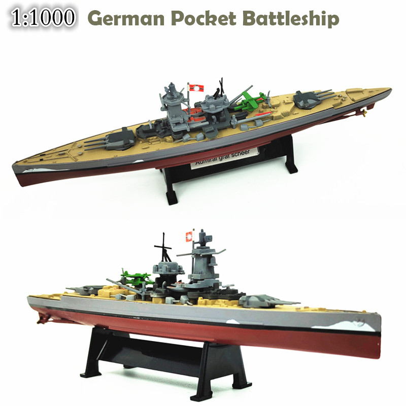 1: 1000 German admiral Mini battleship Armoured ship Finished warship <font><b>model</b></font> Alloy <font><b>hull</b></font> image