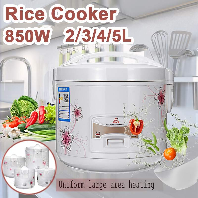 Efficient Electric Rice Cooker 2/3/4/5L Alloy Cast Iron Heating Pressure Cooker Soup Cake Maker Multicooker Kitchen Appliances